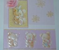 мишки и цветочки, с днём рождения