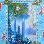 С Рождеством! Свечи на ели, храм