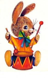 Зайчик-барабанщик