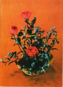 цветы незабудки и розы