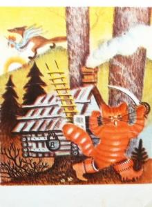 сказка кот, петух и лиса
