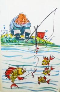 рисунок рыбака