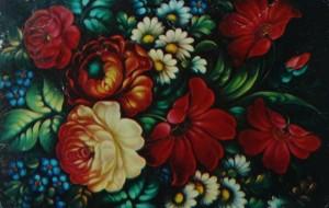 жостовские цветы
