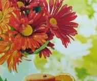 открытка с герберами