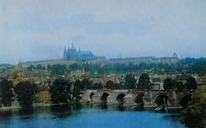 Прага. Карлов мост через реку Влтаву.