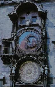 Прага. Куранты на Староместской ратуше.