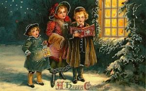 открытка с колядками